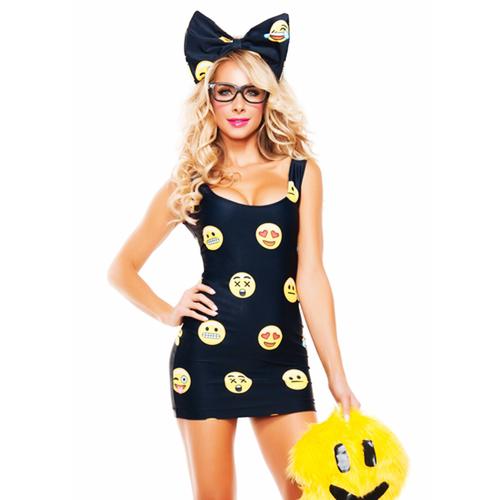 HappyFace Emoji Costume Halloween Fancy Dress