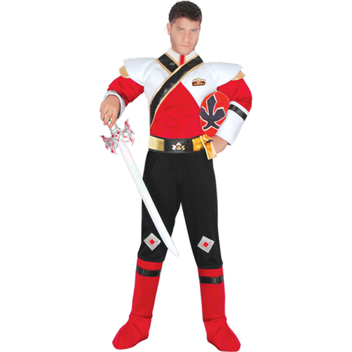 power rangers super samurai red ranger mens costumes
